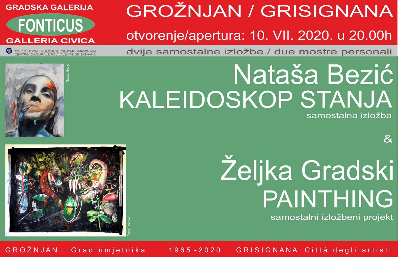 Izložbe Nataše Bezić i Željke Gradski u grožnjanskoj galeriji Fonticus